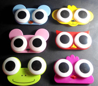 Wholesale 24pcs Cute contact lens case kit contact lens box Contact lens mate box