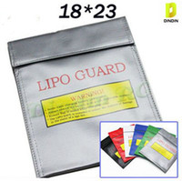 Wholesale NEW cm RC Fireproof Lipo Li Po Battery Lipo Guard Charge Bag