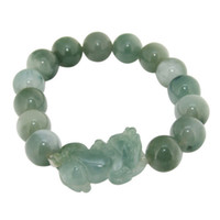 Wholesale Natural Hikyuu Emerald Jade Stretch Bracelet Bangle
