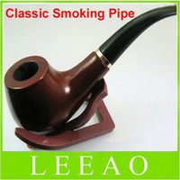 Wholesale 2013 Lowest price Classic Wooden Smoking Tobacco Pipe with Pouch