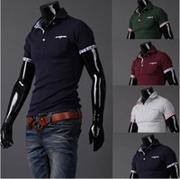 Wholesale 2013 new men s short sleeved New plaid mixed colors Slim men s T shirt short sleeves