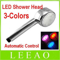 Wholesale BEST Color LED Light Shower Head Water Temperature Sensor Changing Automatic Control Sprink