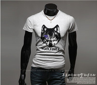 Wholesale 2013 new men s short sleeved the British Lunluo mouth collar short sleeved Slim t shirt