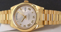 Wr s en Línea-Al por mayor - 41 mm Presidente JUMBO 18K romana 218238 Mens automático del reloj de los hombres Wr
