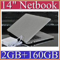 Wholesale DHL inch Netbook Dual Core Intel Atom D2500 Dual core Laptop HDD DDR3 Ultra thin Netbook BB14
