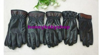 Wholesale Man leather gloves thick gloves Five fingers warm winter