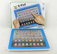 Wholesale 2pcs Y pad Table Learning Machine English Computer for Kids Children Educational Toys Music Led