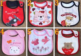 Wholesale Infant saliva towels three layer Baby Waterproof bibs Baby wear accessories styles