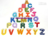 Wholesale 26 large wooden letters wooden card stickers affixed magnetic refrigerator very good