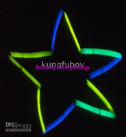 Wholesale Light Stick MM MM Five pointed star pattern light sticks very fine haha