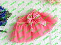 Wholesale 2013 new Tutu skirt Fruit color veil big bowknot dance skirt