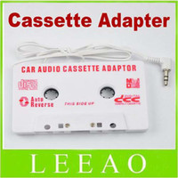 other all MP3 / MP4 Player Lowest Price 120pcs lot 3.5mm Jack Car Audio Cassette Tape Adapter for MP3 Player CD Cell Phone Whit