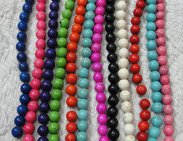 Wholesale 10 color Mix mm Natural stone loose beads turquoise beads DIY Bracelet necklace