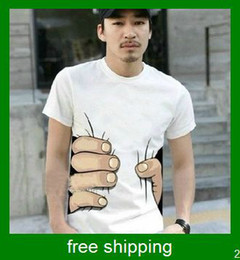 Wholesale Big hand t shirt unisex D visual creative attract attention weapon