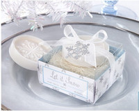 Wholesale Wedding favors scented Soap Cute snowflake Soap Decorative Baby Showers Soaps Gifts