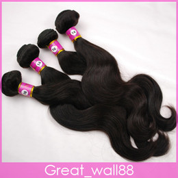 Wholesale Brazilian Virgin Hair Weft Hair Weave Body Wave A Grade B g Mix Length DHL Free HWDM3