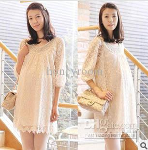 NEW Fashion Big Code Maternity Summer Lady Lace Collar of Beads ...