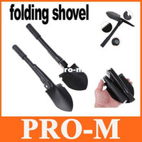 Wholesale Mini Multi function Folding Camping Shovel Survival Trowel Dibble Pick Outdoor tool H8078S Free