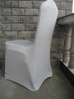 Wholesale white color spandex chair cover