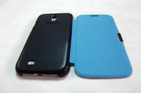 Wholesale New Back cover Flip leather Case Battery Housing case For Samsung Galaxy S4 i9500