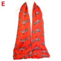 Wholesale New arrival Zebra printing animal cute summer women scarf NL