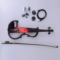 Wholesale 4 Electric acoustic Violin Case Bow Rosin Connecting Line