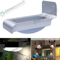 Wholesale Solar Powered Lamp Outdoor LED LEDs Lights Wall Light Ray Sound Sensor Light Outdoor Garden