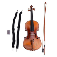 Wholesale 3 Acoustic Violin with Carved Pattern Case Bow Rosin DH Natural