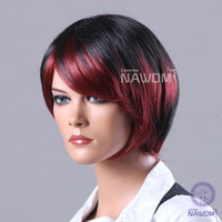 Wholesale Straight Kanekalon Fiber Synthetic Women Wig Hair High Quality Fashion Lady Wig Hair H9003Z