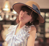 Wholesale 649 the Wide Brim Hats big hat lady bowknot sunshade cap