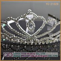 Wholesale Rhinestone Crystal Diamond Tiara Crown for Wedding Birthday Pageant Hair Jewelry Fac