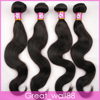 Wholesale 100 Brazilian Virgin Hair Weft Weave wavy Remy Human Extensions inch g pc DHL