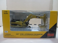 Wholesale CAT D CAT55274 L HYDRAULIC EXCAVATOR Machine model Metal Toys Yellow independent packaging