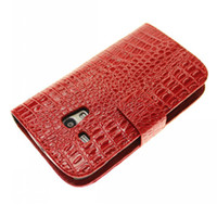 Leather For Samsung For Halloween Crocodile Pattern Wallet Leather Case Cover Card Stand Holder Pouch For Samsung Galaxy S3 mini I8190