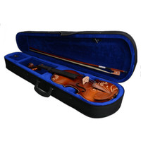 Wholesale 4 Acoustic Violin with Carved Pattern Case Bow Rosin DH Natural Brand New
