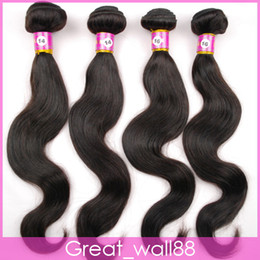 Wholesale STOCK quot quot Mix Length Brazilian Virgin Hair Weft Human Hair Weave Extensions g DHL Fast