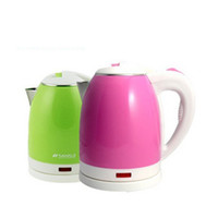 Wholesale SANSUI L Stainless Auto Power Off Electric Kettle Water Heater Canteen Thermos Pink Green