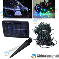 Wholesale 22M LED RGB light Solar Christmas String Light Wedding Party Garden xmas strip Lights