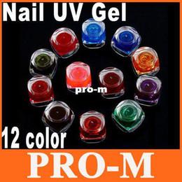 Wholesale 12pcs Color Nail UV Gel for Nail Art