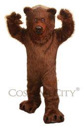 Wholesale Prefesstion Big Grizzly Bear Mascot Costume party suit Adult size