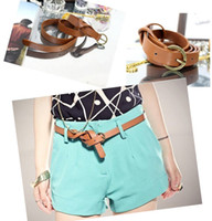 Wholesale Cross Belt Thin Female Ornaments Metal Simple Wild Pin Buckle Belts Waist Chain