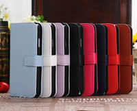 Wholesale 50pcs Samsung Galaxy S4 i9500 Book Style Leather Wallet Credit Card Case Pouch Cover hot