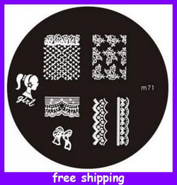 Wholesale M Series Round Stainless Steel Image Plate Nail Art Stamping Plate Template