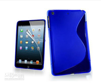 apple ipad buy - S Line Gel Wave Crystal transparent Soft TPU Silicone Back Cover Case for iPad Mini case mix color