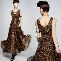 2016 Fashion Summer Dress Bohemian Women Chiffon Dress V- nec...