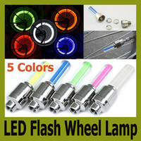 Wholesale Novelty Car Bike Bicycle LED Flash Tyre Light Colors Wheel Valve Stem Lamp Motorbicycle Wheel Lamp