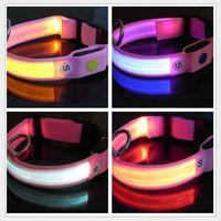 8 colors for choose Glow LED Cat Dog collars Pet LED Flashin...
