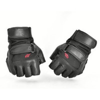 Wholesale Tactical half finger leather gloves lucy refers to ultra thin male hip hop sports tactical gloves X