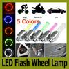 Hot!!! free shipping 5 colors Car Motorcycle Bicycle Tire Wheel Valve Cap Led Flash Light Lamp 100pc