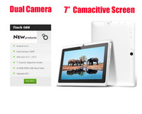 Wholesale 7 quot Dual Camera Tablet PC Capacitive Screen Q88 Android M GB WIFI colors